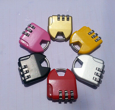 3-dial Combination Lock Luggage Travel Padlock PE