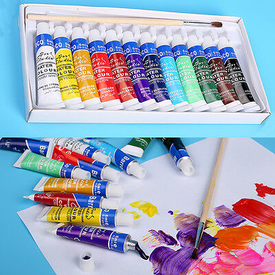 Professional 5ml Paint Tube Watercolor Paint Set 12 Colors For Kids Painting