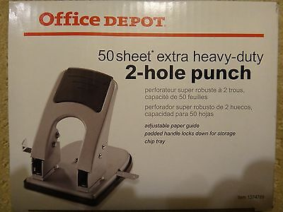 NIB 50 Sheet  Extra Heavy-Duty 2-Hole Punch
