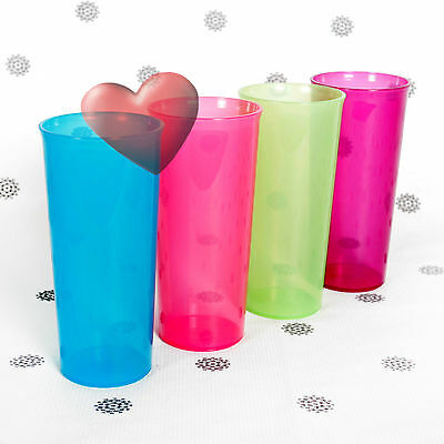 NEW Oceanic set of 4 Straight sided Tumblers in gorgeous colours of Purple Blue