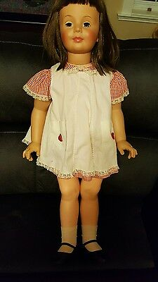 "VTG 1960 Ideal G35 ""Patti PlayPal Doll""  Brunette W/ Green Eyes &Original Outfit"