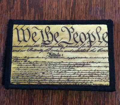 We The People Morale Patch Military 2A III%Tactical ARMY Hook Military USA Badge