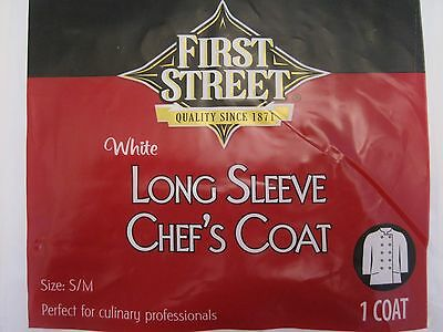 Long Sleeve Chef's Coat Size S/M