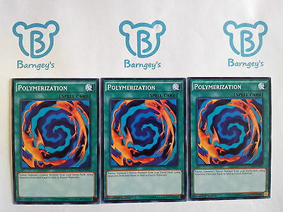 3 Polymerization,PLAYSET,Common,1st Edition,LDK2,NM,Yugioh,Barngey's