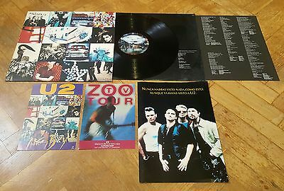 U2 ACHTUNG BABY 1991 VERY RARE SPANISH LP+BOOKLET+2xINFO SHEET PROMO SET