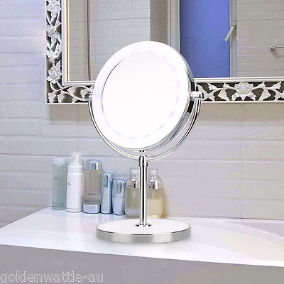 Beauty Bathroom Double Side 7x Magnifying Makeup Cosmetic Mirror with LED Light