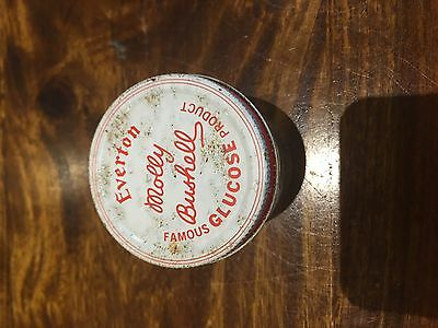 Vintage Molly Bushell Famous Glucose Product glass jar