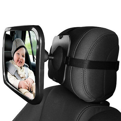 Rear/Baby/Child Seat Car Safety Mirror Large Adjustable Wide View Headseat Mount
