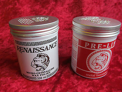 Pre-lim surface cleaner & Renaissance wax 200ml cans