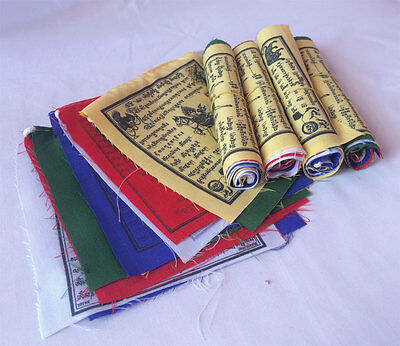 5 Roll Tibetan Mantra Printed Little Mini Combo Prayer Flags (LM10)