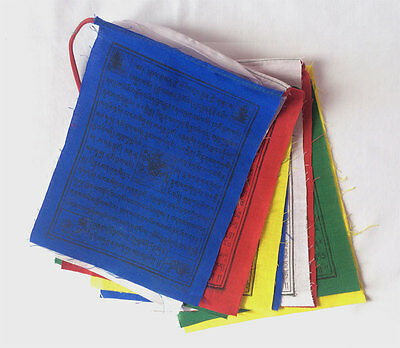 Mix Deity Printed in 5 Color  Buddhist Cotton Prayer Flags Hanging (KLPF04)