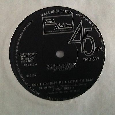 Jimmy Ruffin-Don't You Miss Me A Little Bit Baby/i Want Her Love-Uk Tamla Motown