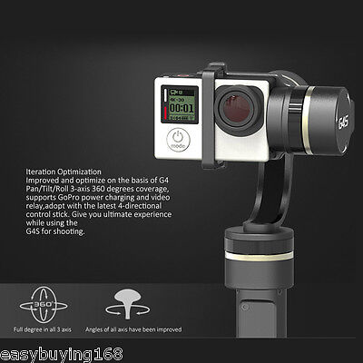 Feiyu Tech FY-G4S 4 Modos 360° Move 3-Axis Handheld Gimbal For GoPro Hero 4 3 3+