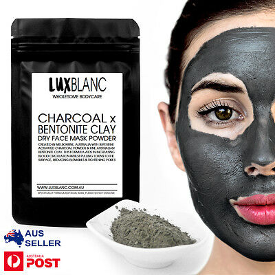 Activated Charcoal & Bentonite Clay Dry Face Mask | Aus Made | Multiple Use |50g