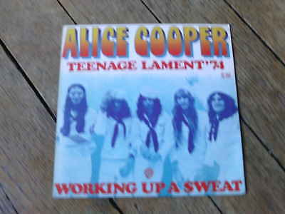 ALICE COOPER Working up a sweat / teenage lament 74 FRENCH ONLY RARE