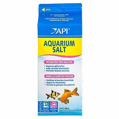 API Aquarium Salt 1840g Fish Health Gill Stress Salt Fresh Tropical Fish Tank