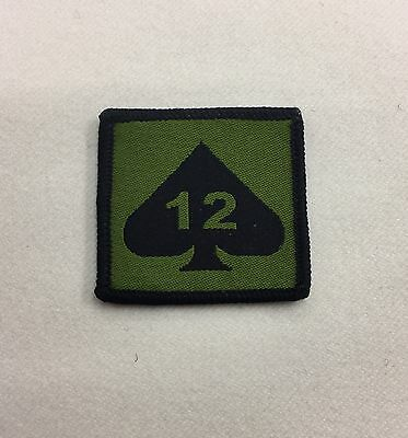 12 Mech Brigade Badge, Green Mechanised Army MTP, Combat, Military, Hook Loop
