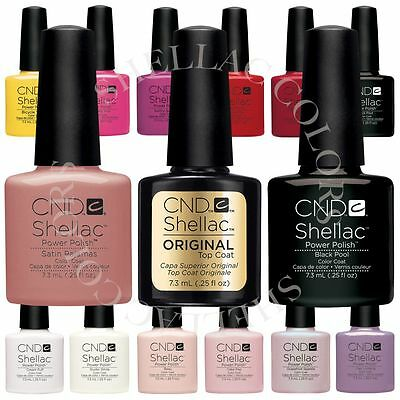 CND Shellac UV Gel Nail Power Polish Choose from 120 Colours, Top or Base Coat