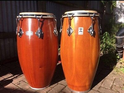 Rare Reiche Congas Made Of African Mahogany