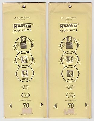 Hawid black stamp mount strips 70 mm pack of 10 x 2 packets