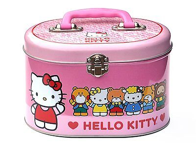 Hello Kitty Tin Stationery Sewing Box Small Lunch Box - Pink