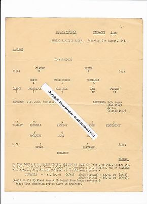 1965/66 HALIFAX TOWN v OLDHAM ATHLETIC - PUBLIC PRACTICE MATCH *VERY RARE*
