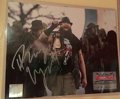 Wrestlemania 32 Exclusive Limited Edition Signed Bray Wyatt RARE 8X10 WWE 2016