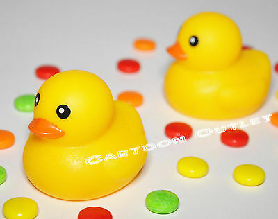 10-1//4-Inch 2-Count Baby Shower Rubber Ducky Pick With Bow