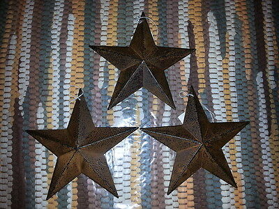 "3 Rusty 5.5"" Primitive Metal Barn Star - Stars, Ornaments, 5-1/2"", Rustic, New"
