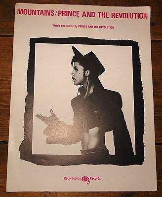 Prince & The Revolution ~ Mountains ~ Original Uk Lyric Song Music Sheet 1986