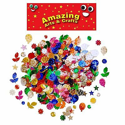 Sequins Craft Sewing Embellishments 15 50 100 gram