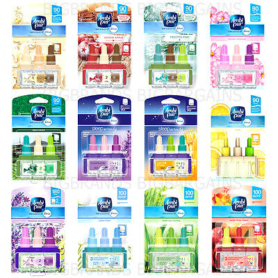 6 x Ambi Pur Febreze 3volution Electric Plug In Refills Freshener 90 Days 6 Pack
