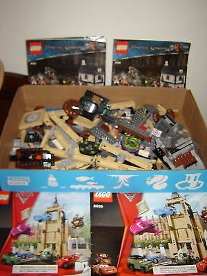 2.5 Lbs Lego Parts Pieces from Pirates of the Caribbean & Disney Cars Booklets