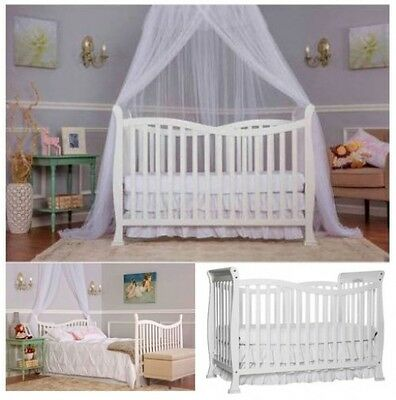 Convertible Baby Crib White 7 In 1 Wood Furniture Daybed Toddler Nursery Bed Set