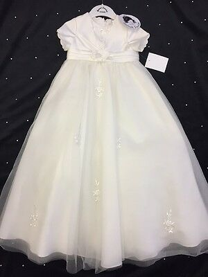 Girls Christening Gown Ivory Baptism Gown Sarah Louise Style 001051 Brand New !!