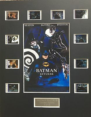 Batman Returns 35mm Film Cell Display - cells as shown