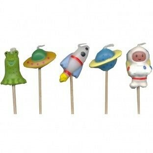 Space Rocket Happy Birthday Candles