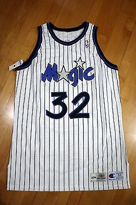 1994-95 Champion Magic Shaquille O'Neal Game Worn Home Jersey Used MEARS LOA