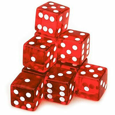 Brybelly 10 Count 19mm Dice - RED - NEW