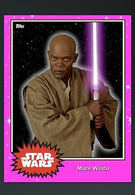 Topps star Wars Card Trader S4 Pink Mace Windu