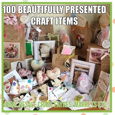 102 BEAUTIFULLY PRESENTED CRAFT ITEMS suitable RESALE CRAFT FAYRE (W)