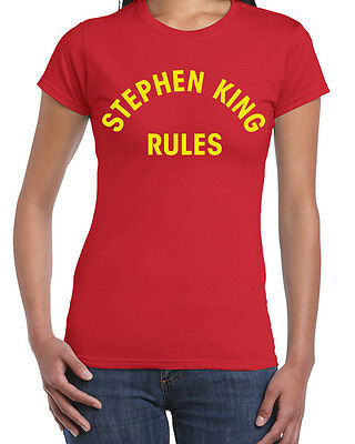 013 Stephen King Rules womens Tshirt funny author scary monster halloween retro