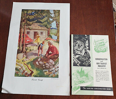 1946 Carling Breweries Conservation Club Picture & Pamphlet - Tourist Camp