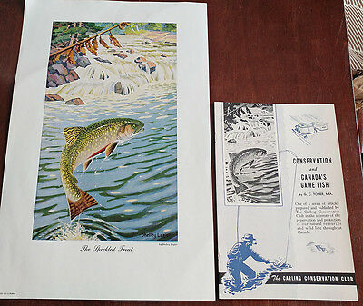 1946 Carling Breweries Conservation Club Picture & Pamphlet - The Speckled Trout