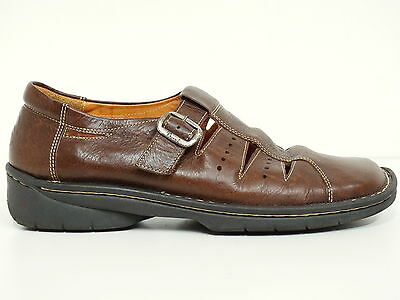 ▲ THINK! ▲ Sandale Gr. 42 Herren Man Shoes Echtleder Braun