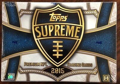 2015 Topps Supreme Football Factory Sealed Hobby Box