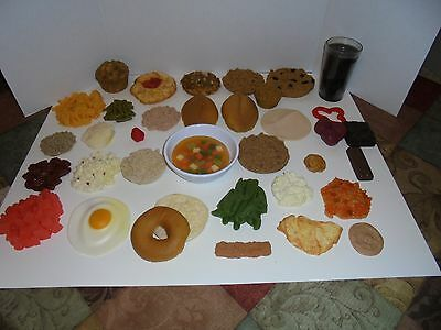 Lot 36 pieces vintage Nasco realistic Life Size meal play Food ( prop )