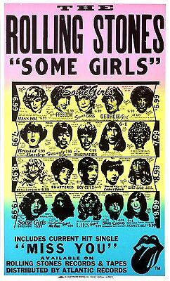ROLLING STONES 1978 SOME GIRLS Boxing-Style Promo Poster w/WITHDRAWN ARTWORK
