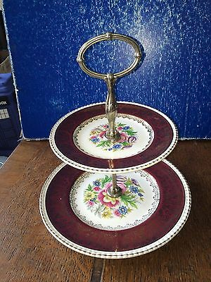 Simpsons Solian Ware Murraygate Two Tier Cake Stand Shabby Chic 22.7 & 16.5cm di