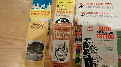 Quantity (11) of Midland Red brochures from early 1970s